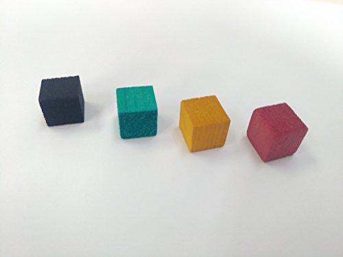 カラーウッドキューブ 赤 青 黄 緑 25個ずつ 合計100個入り