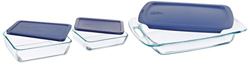 Pyrex Easy Grab 6-Piece Glass Bakeware and Food Storage Set ()