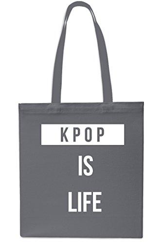 Gym Black Tote is Life Kpop 10 Beach Small x38cm Grey Shopping 42cm Bag litrest w7IZxqRx