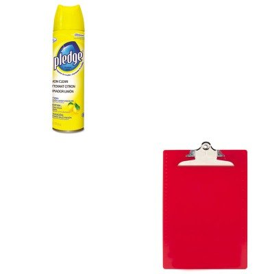 KITDRA5763074CTSAU21601 - Value Kit - Saunders Plastic Antimicrobial Clipboard (SAU21601) and Pledge Furniture Polish (DRA5763074CT)