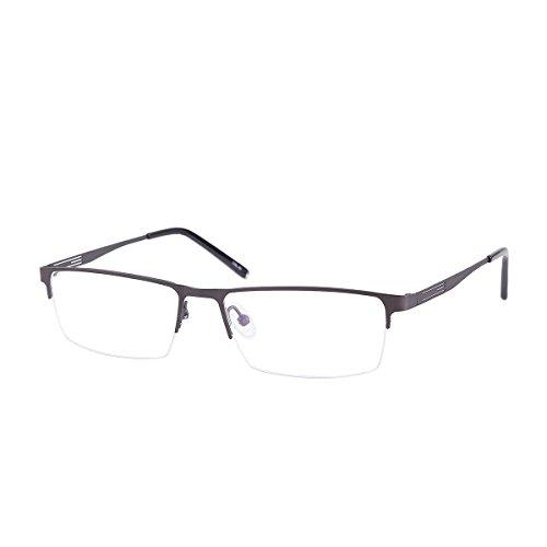 Shortsighted Glasses Titanium Alloy Half-Frame Myopia Glasses -0.50 Men Women Metallic ***Please Kindly Note These are not Reading ()