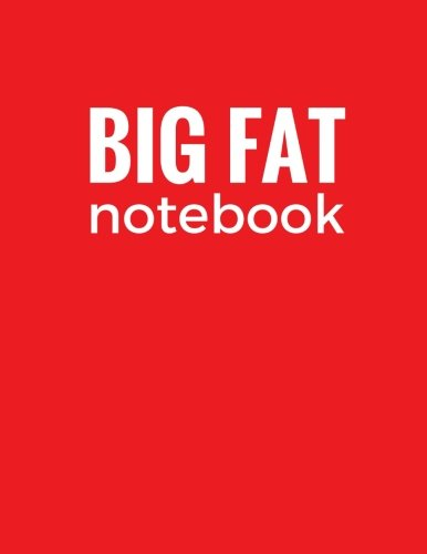 Big Fat Notebook: Red, 600 Pages Ruled Blank Notebook, Journal, Diary (Extra Large 8.5 x 11 inches) (Daily Notebook)