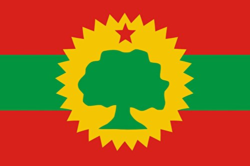 magFlags Large Flag Oromo Liberation Front OLF | landscape flag | 1.35qm | 14.5sqft | 90x150cm | 3x5ft - 100% Made in Germany - long lasting outdoor flag