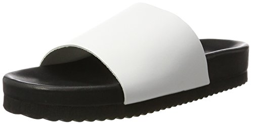 SELECTED FEMME 16057170, Chanclas Mujer Blanco (White)