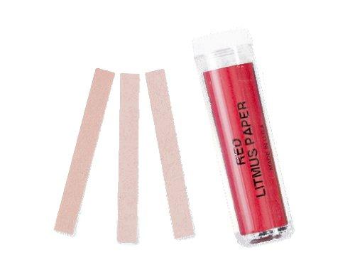 Red Litmus pH Test Paper Base Indicator 100 strips pH 6.8 - - Indicator Strips