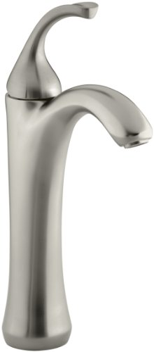 KOHLER K-10217-4-BN Forte Tall, Single Control Lavatory Faucet, Vibrant Brushed Nickel