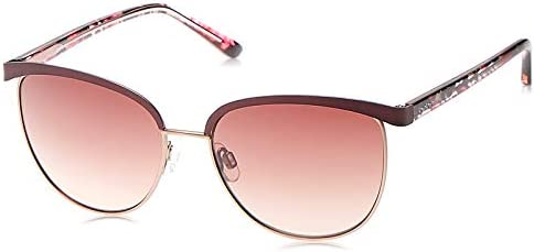 Bebe Women BB7194/56/ROSE GOLD Metal Sunglasses, Red & Brown