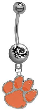 Clemson Tigers NCAA Belly Button Navel Ring (Tiger Belly Button Rings compare prices)