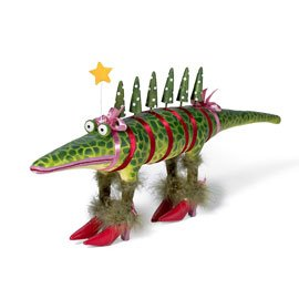 Amazon.com: Department 56 Large Krinkles Christmas Alligator NEW ...