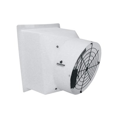 Schaefer Exhaust Fan - 12in., 1604 CFM, 1/3 HP, 115/230 Volt, Model# (Schaefer Ball Bearing)
