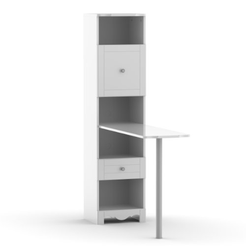 Pixel Bookcase Desk 311803 from Nexera, White by Nexera