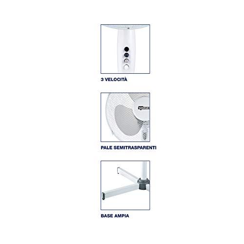 Termozeta TZWZ02 Ventilatore A Piantana, 50 W