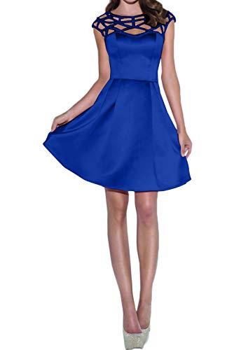 Linie Royal Rosa Abendkleider Mini A Rock Cocktailkleider Satin Blau Marie Mit Pailletten La Braut Partykleider Promkleider Attraktive UpW4xHZ