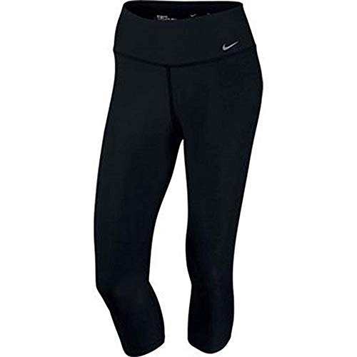 Nike Womens Legend 2.0 Tight Poly Capri (X-Small, Black/Cool Grey)