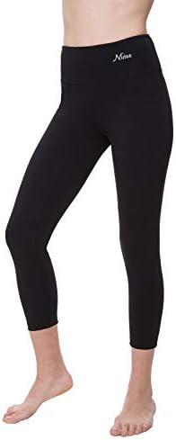 NIRLON Capri Leggings for Women 7/8 Length High Waist Workout Capri's Yoga Pants Regular & Plus Size Cotton Spandex 1