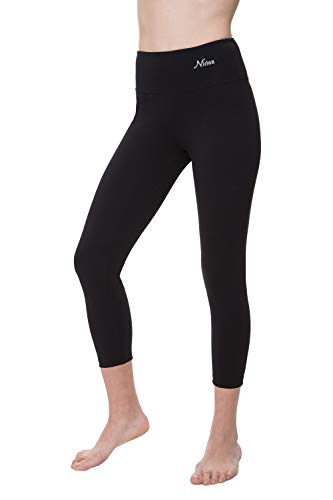 - NIRLON Capri Leggings for Women High Waist Workout Capris Yoga Pants Plus Size (L, Black 22