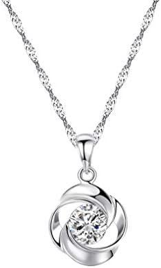スーパージルコニア採用 925純銀製 1粒CZダイヤモンド ローズモチーフ 45cmネックレス フレンチロープ ペンダント