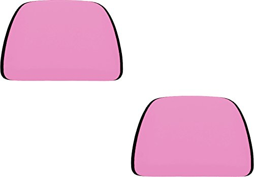 U.A.A. INC. Pink Soft Polyester Universal Fit Head Rest Covers Set of 2