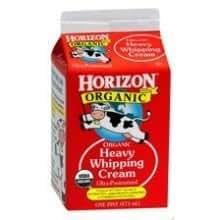 Horizon Organic Heavy Whipping Cream, 16 Ounce -- 12 per case.