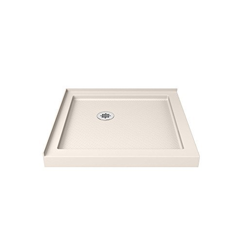 DreamLine DLT-1036360-22 Double Threshold Shower Base, 36 W x 36 D, Biscuit by (Biscuit Base)