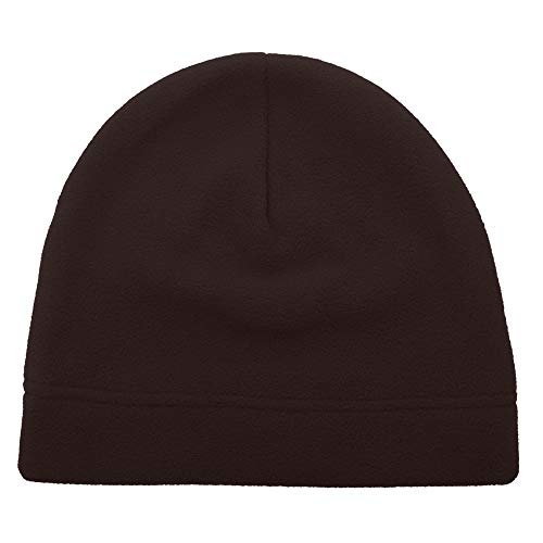 Beanie Fleece Brown - Opromo Men's Fleece Beanie Hat Soft Warm Winter Windproof Under Helmet Skull Cap Coffee