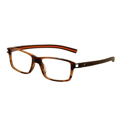 Tag Heuer Eyeglasses Track S TH7601 TH/7601 002 Brown/Orange Optical Frame 55mm