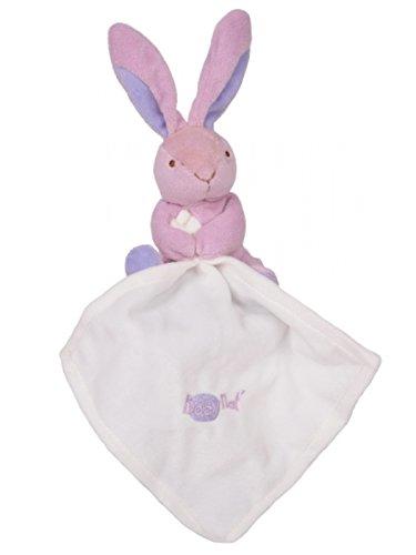 Babynat – Peluches y Doudous – Doudou conejo púrpura Parma con pañuelo color blanco – Flashy