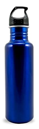 Liquid Logic Excursion BPA Free Single Wall Stainless Steel Water Bottle (26-Ounce, Blue)