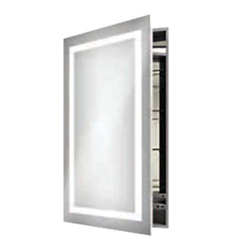 Electric Mirror AMB-2340-LT Ambiance 23.25w x 40h Lighted Mirrored Cabinet - Left -