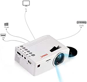 Unic Mini Portable 3D Projector - UC18, White