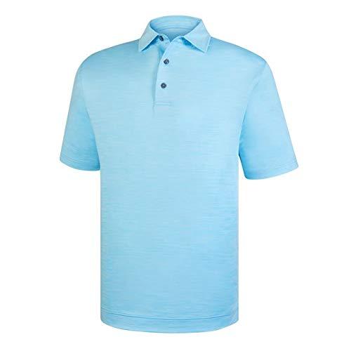 - FootJoy Men's Space Dye Golf Polo (M, Light Blue)