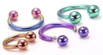 Painful Pleasures 14g Titanium Circular Barbells Wholesale Body Jewelry - Grade 23-13mm ~ 1/2
