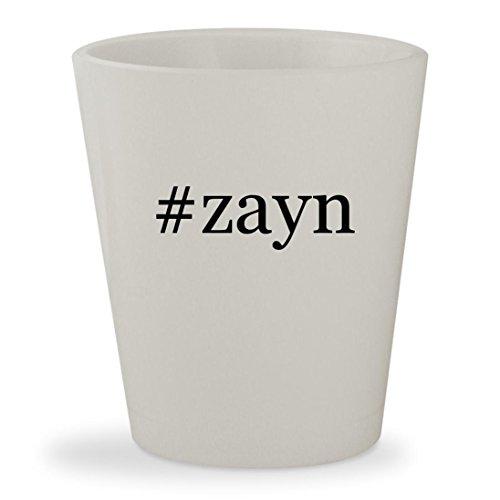 #zayn - White Hashtag Ceramic 1.5oz Shot Glass