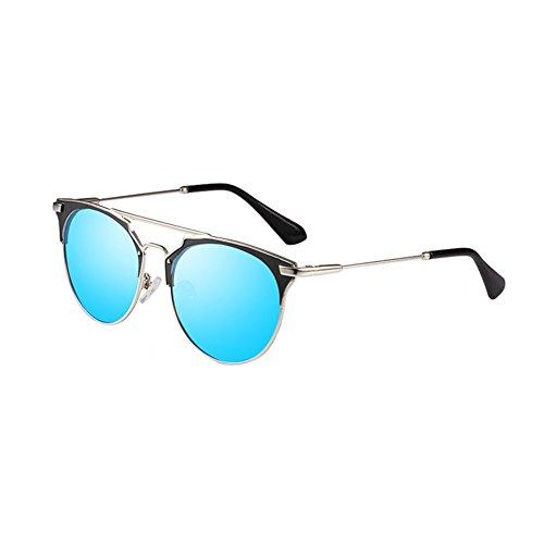 Gafas A Modelos Señoras De Polarizado Sol Gafas Resort Moda Sol Marco Femenino Seaside De Playa LIZHIQIANG Las De UV A Color Metal Marea De gq6A55