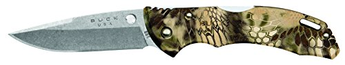 (Buck Knives 0285CMS26 Bantam Folding Pocket Knife with Pocket Clip, Kryptek Highlander Camo)