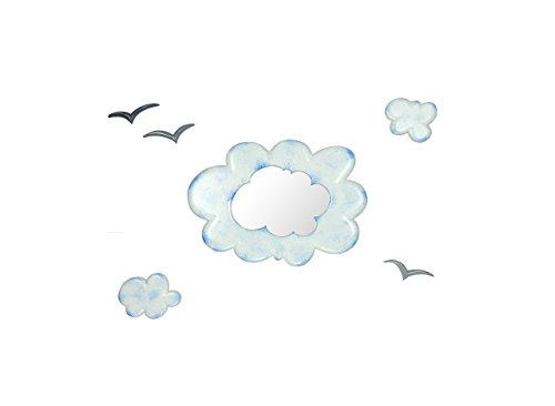 "Baby Decorative Cloud Wall Mirror 14"" x 21"" - Fluffy Clouds by Marvellous Mirrors"
