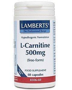 Lamberts L-Carnitine 500mg, 60 capsules