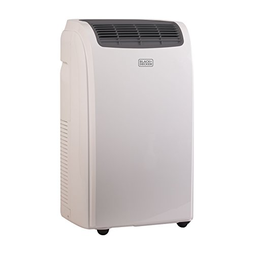 BLACK + DECKER 10000 BTU Portable Air Conditioner Unit, Remote, LED Display, Window Vent Kit, 4 Caster Wheels, White]()