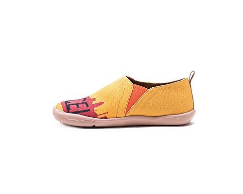 Zapato De Lona Pintado Uin Mujeres City Of Gaudi Amarillo