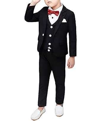 Amazon.com: Conjunto de trajes para niños de 4 piezas ...