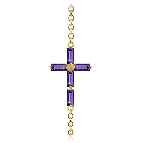 QP bijoutier Améthyste Bracelet en or 9 carats, coupé - 5035Y 1.15ct Baguette