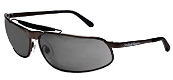 Smith & Wesson 20278 10x Safety Glasses, Smoke Lenses with Matte Bronze Frame