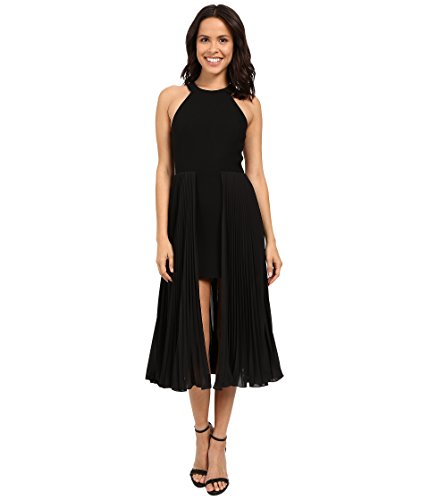 halston-heritage-sleeveless-round-neck-crepe-dress-with-pleated-skirt-insert-black-womens-dress