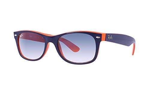 Ray Ban RB2132 789/3F 55 Blue-Orange New Wayfarer Sunglasses Bundle-2 ()