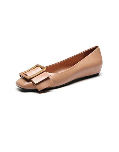 la de Compras Zapatos Cabeza la Planos de Las Zapatos ZFNYY de los Cuadrada la Que Hebilla Hacen Mujeres Boca Baja de Metálica Casuales q7tp6wR