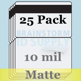 "10 Mil Matte Butterfly Pouch Laminates with 1/2"" HiCo Magnetic Stripes - 50 Pack Brainstorm ID 3068962"