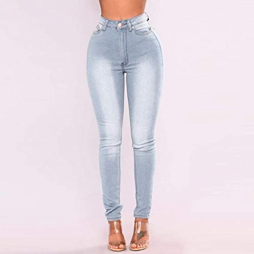 Bottoni Matita Skinny Alta Biran A Blau Grazioso Stretch Pantaloni Denim Frontali Jeans Vita Tasche Casual wx1FqZ