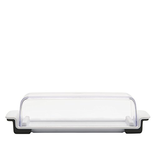 - OXO 11122500 Good Grips Butter Dish, White/Clear