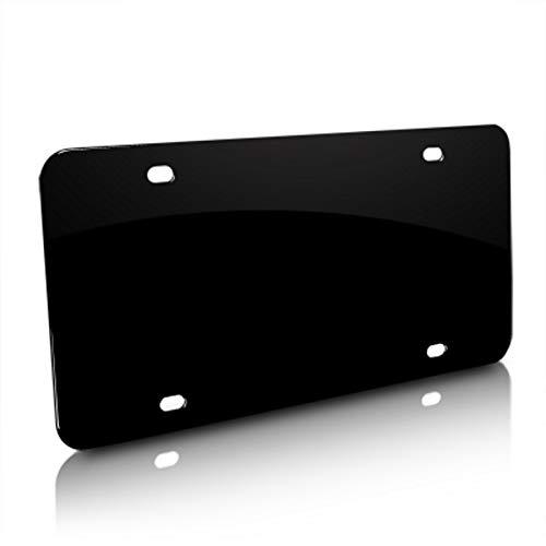 Blank Stainless Steel Black License Plate