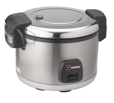 (Winco RC-S300 30-Cup Electric Rice Cooker W/ Hinged Cover & Stainless Body, Satin Finish - Rice)
